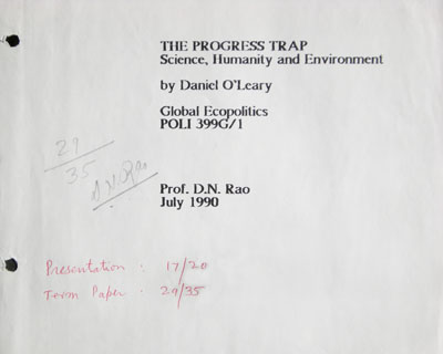 The Progress Trap - Science, Humanity and Environment